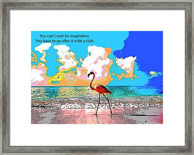 Motivational Quotes Framed Print by Charles Shoup