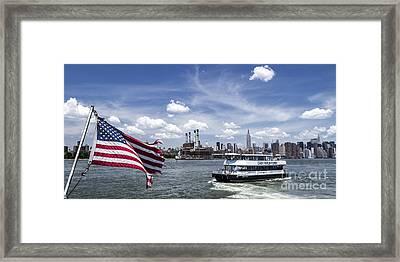 New York Framed Print by Juergen Held
