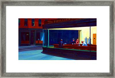 Nighthawks Framed Print