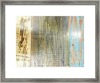 Old Wood Framed Print