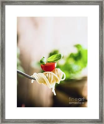 Pasta With Olive Oil  Framed Print