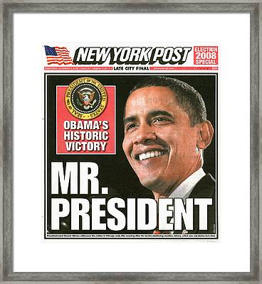 Presidential Campaign, 2008 Framed Print by Granger