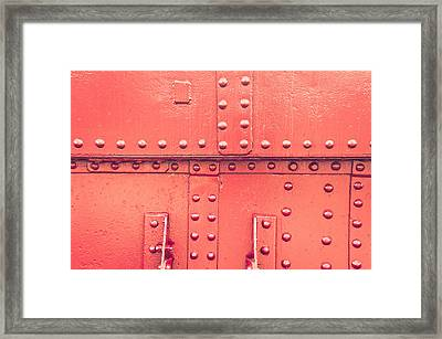 Red Metal Framed Print by Tom Gowanlock