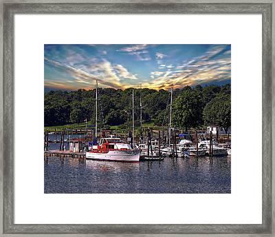 Sailboats And Yachts Framed Print