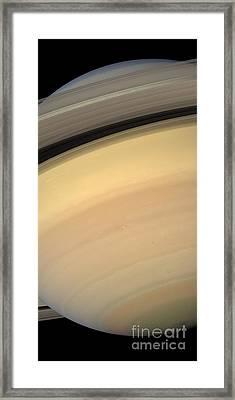 Saturn Framed Print by Stocktrek Images
