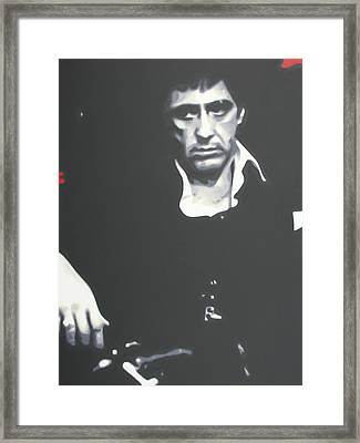 Scarface Framed Print by Luis Ludzska