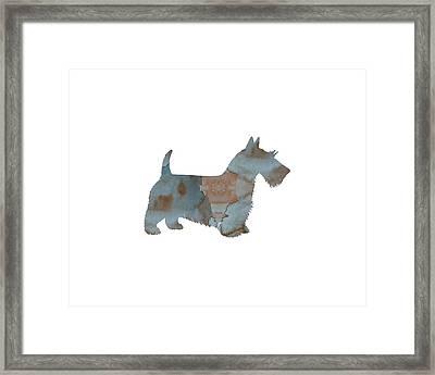Scottish Terrier Framed Print by Mordax Furittus