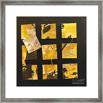 10 Square Framed Print