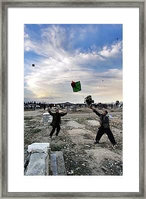 Street Of Kabul Framed Print