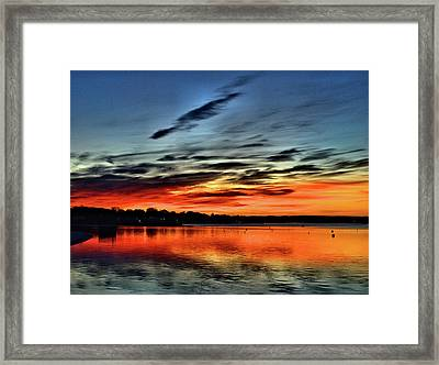 Sunrise Onset Pier Framed Print