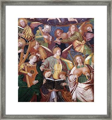 The Concert Of Angels Framed Print by Gaudenzio Ferrari