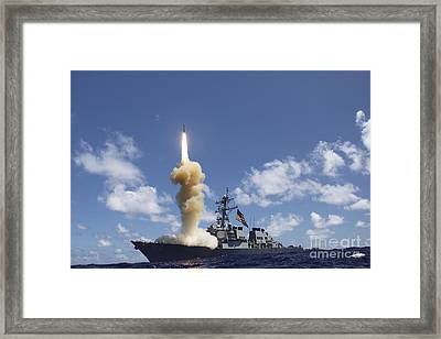 The Guided-missile Destroyer Uss Framed Print by Stocktrek Images