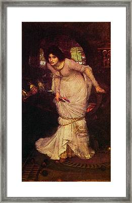 The Lady Of Shalott Framed Print by John William Waterhouse