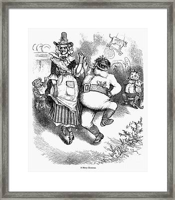 Thomas Nast: Christmas Framed Print by Granger