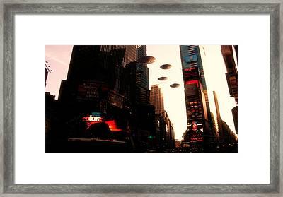 Ufo Sighting Framed Print by Raphael Terra
