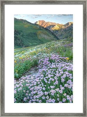 Wasatch Mountains Utah Framed Print