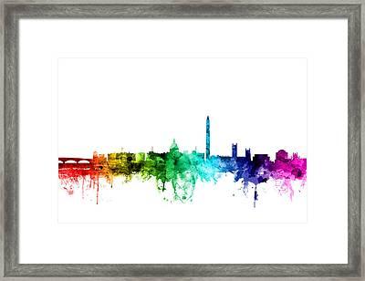 Washington Dc Skyline Framed Print by Michael Tompsett