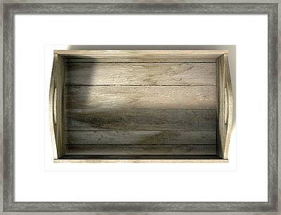 Wooden Carry Crate Framed Print