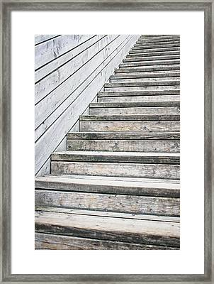 Wooden Steps Framed Print