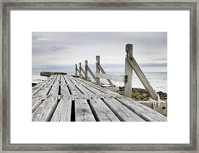 Wooden Walkway Framed Print by Tom Gowanlock