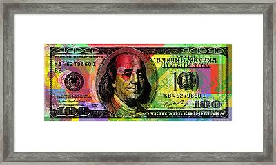 Benjamin Franklin - Full Size $100 Bank Note Framed Print