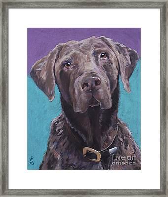 100 Lbs. Of Chocolate Love Framed Print by Pat Saunders-White