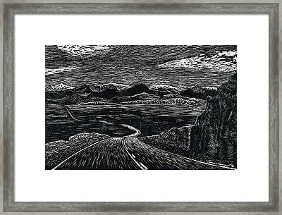 100 Miles Framed Print by Maria Arango Diener