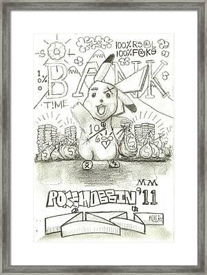 100 Percent Bank Framed Print by Robert Wolverton Jr