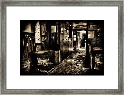 100 Year Old Railroad Caboose Framed Print