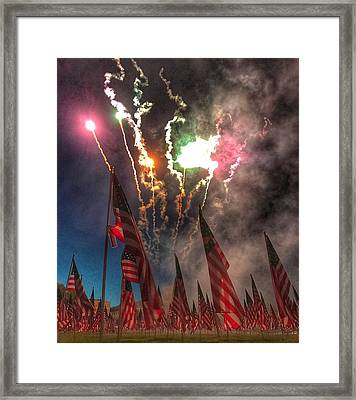 1,000-flag Charlestown Field Of Honor  Framed Print