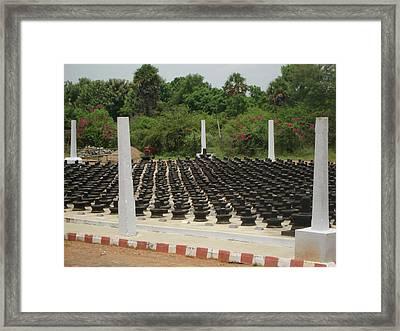 1008 Lingams Framed Print