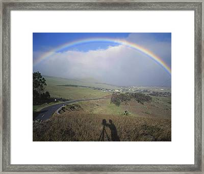 100860 Rainbow In Hawaii Framed Print by Ed Cooper Photography