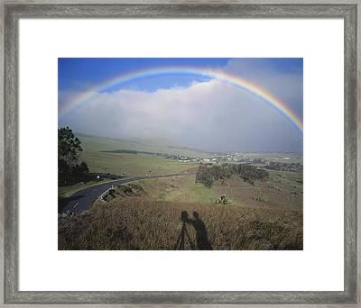 100860 Rainbow In Hawaii Framed Print