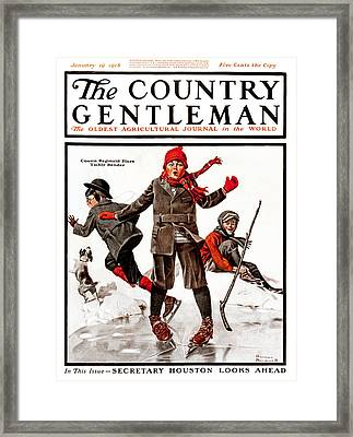 Cover Of Country Gentleman Agricultural Framed Print by Remsberg Inc