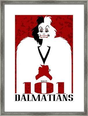 101 Dalmatians Alternative Poster Framed Print