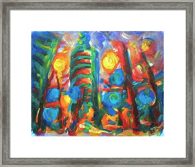 101 Exuberance Framed Print