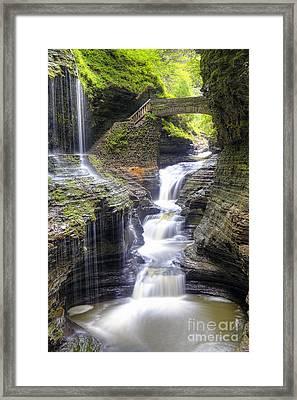 1016 Rainbow Falls Framed Print by Steve Sturgill