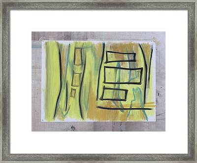 Framed Print featuring the pastel 1016 by Stefan Hermannsson