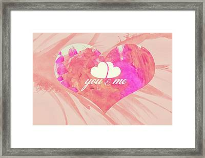 10183 You And Me Framed Print