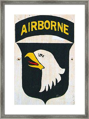 101st Screaming Eagles Framed Print by Unknown