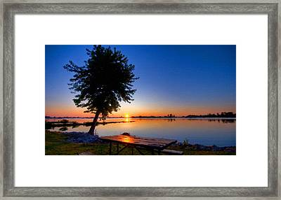 Oil Painting Landscape Pictures Framed Print