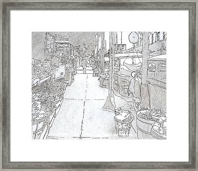 1025 S. 9th St.,phila.,pa   1954 Framed Print