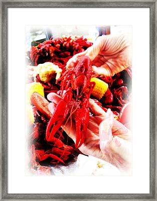 102715 Louisiana Lobster Framed Print