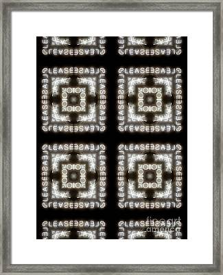 Unique Design Pattern Framed Print