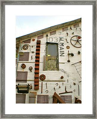 103 W. Main Framed Print