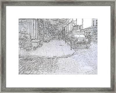 1031 S. 9th St.,phila.,pa Framed Print by Michael Cifone