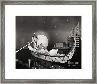 Silent Still: Man & Woman Framed Print