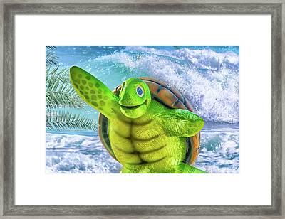 10731 Myrtle The Turtle Framed Print by Pamela Williams