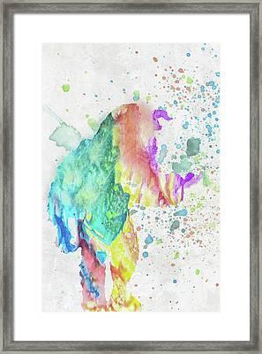 10787 Beast Framed Print