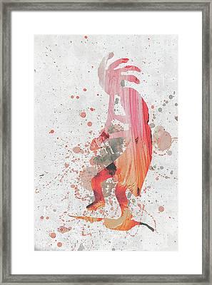 10797 Kokopelli Framed Print by Pamela Williams
